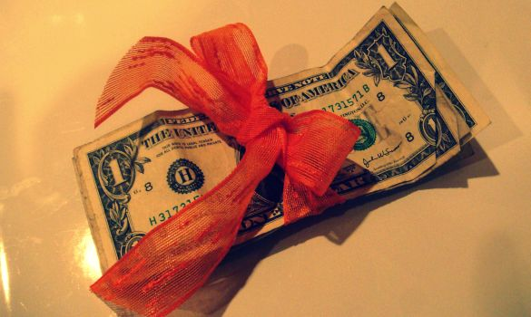 Money with a ribbon - feature