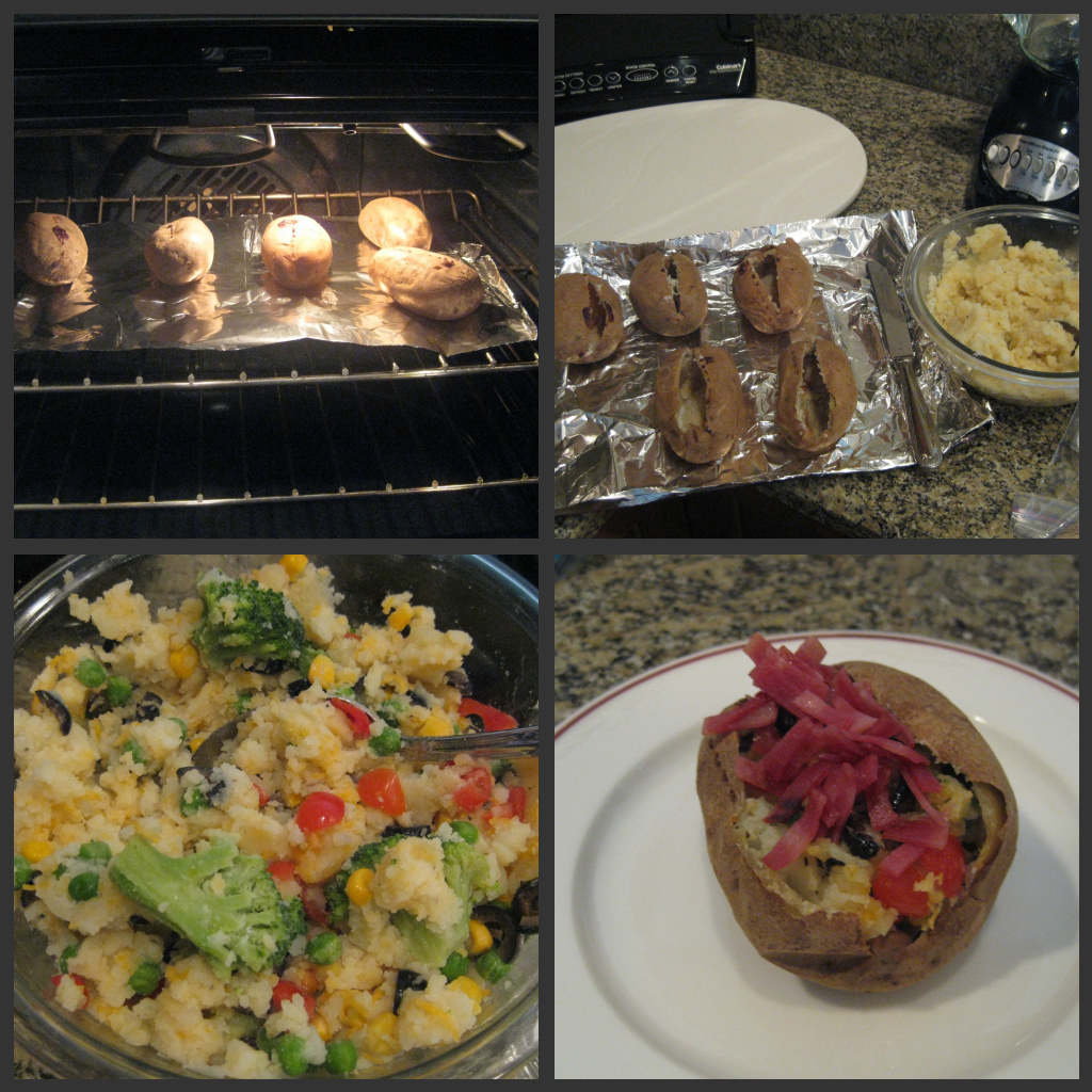 Veggie Stuffed Twice Baked Potato Boats