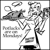 Potluck are on Mondays badge