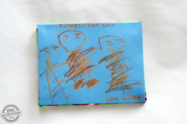 Homemade Father's Day Mouse Pad Craft