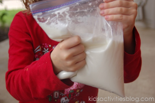Silly Putty Recipe in a bag