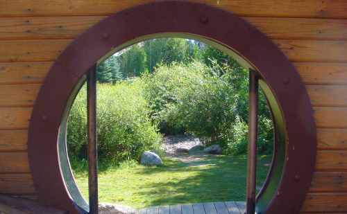 Pirate Park porthole view