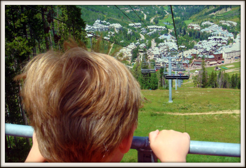 Going down chairlift