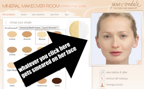 Jane Iredale Mineral Makeover Room Foundation selection