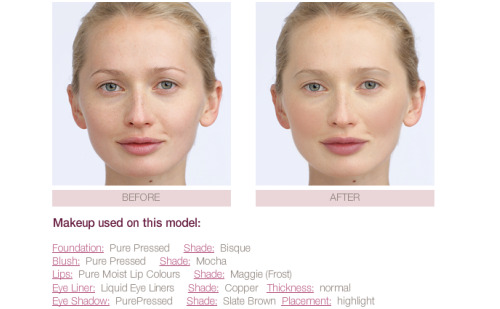 Jane Iredale Mineral Makeover Room before and after screenshot