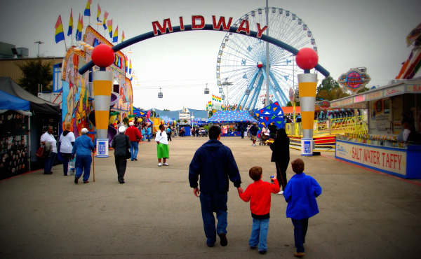 Walking on the Midway