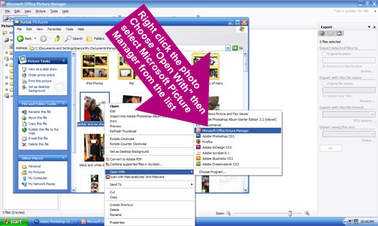 Photo Resizing with Microsoft Picture Manager 3