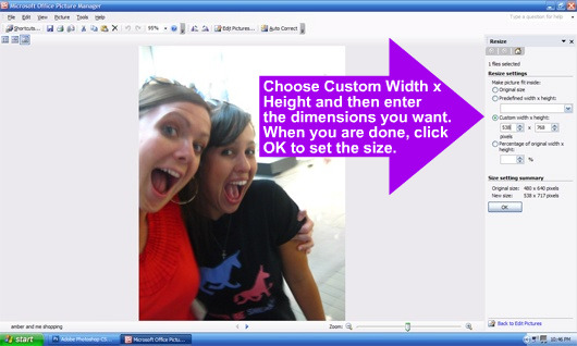 Photo Resizing with Microsoft Picture Manager 5