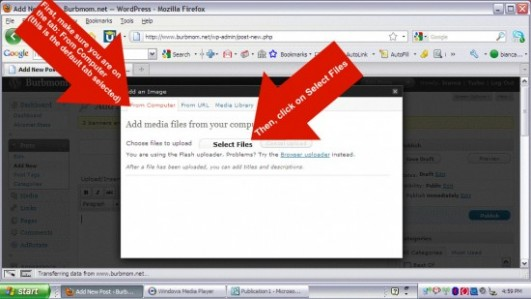 Uploading images into a WordPress post