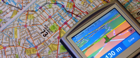 GPS and map feature