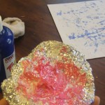 Painting Textures with Aluminum Foil