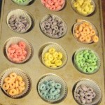 Preschool Activity with Fruit Loops