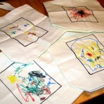 preschooler made tote bag