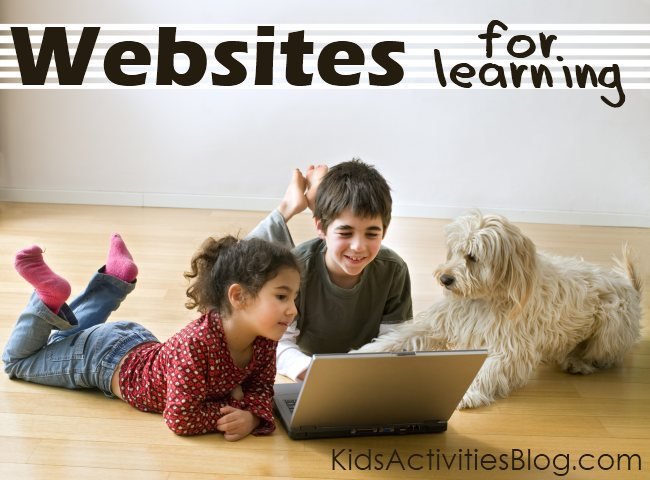 favorite websites for kids - great for an after school quiet activity