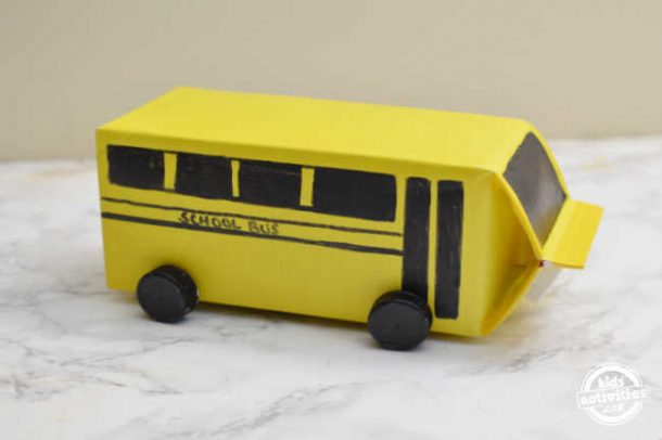add wheels to the milk carton to make it look like school bus with wheels for valentines day