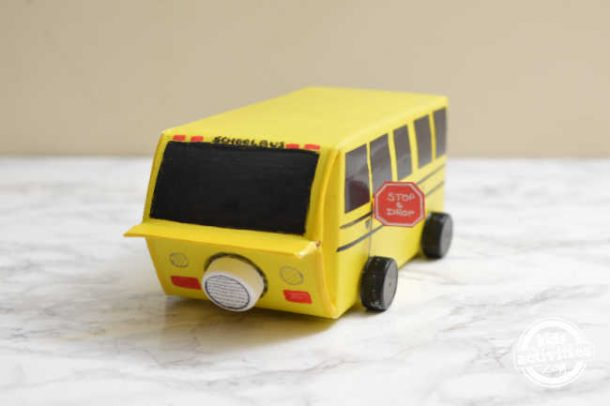 add a stop sign for cut touch on school bus valentine day box