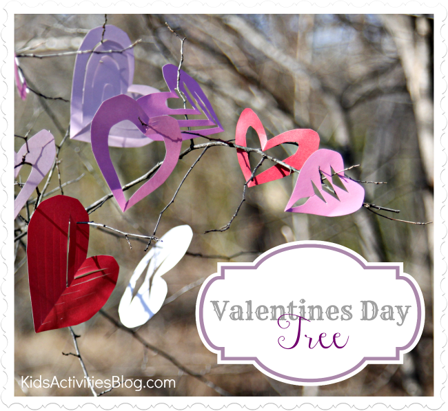 Valentines Day Tree Craft