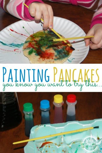painting pancakes - you know you want to try this - Kids Activities Blog