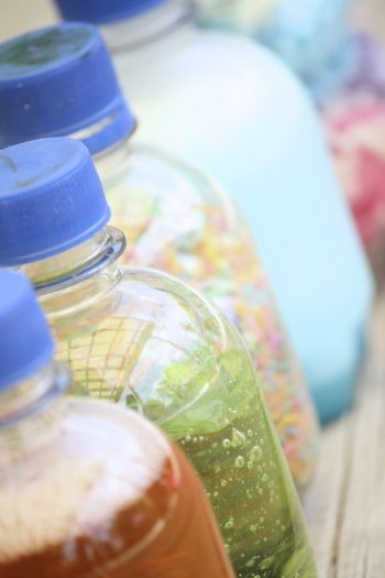 shaking bottles for toddler learning