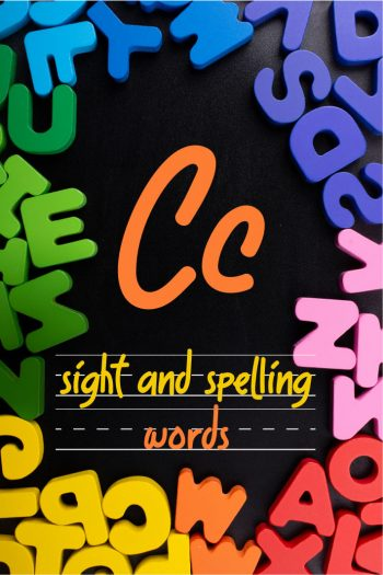 Letter C Sight and Spelling Word List - Kids Activities Blog