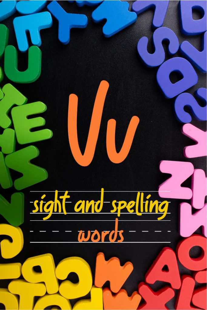 Letter V Sight and Spelling Word List - Kids Activities Blog