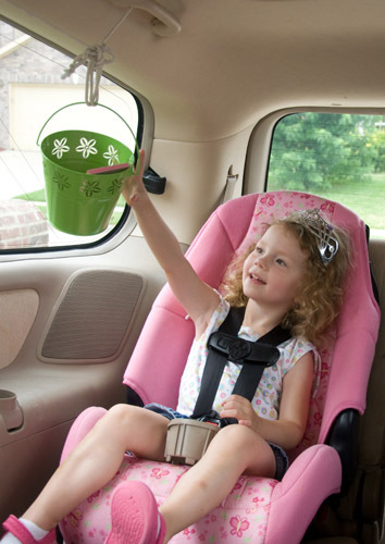car pulley travel system for kids