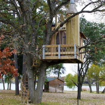 tree house with tower and second floor almost completed