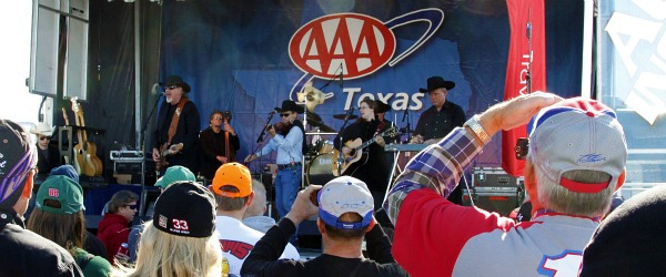Asleep at the Wheel playing a concert before NASCAR race