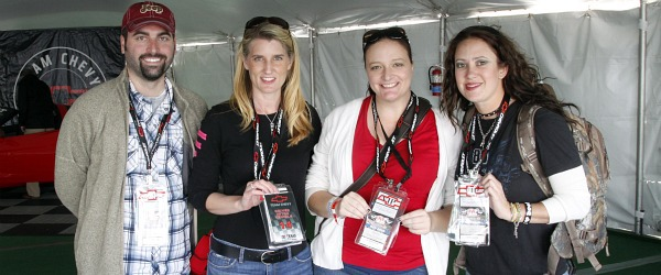 driver into bloggers at chevy tent texas motor speedway