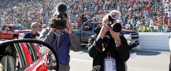photographers at the driver intro at texas motor speedway AAA Texas 500
