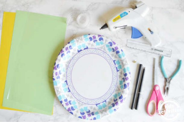 supplies for rotating paper clock