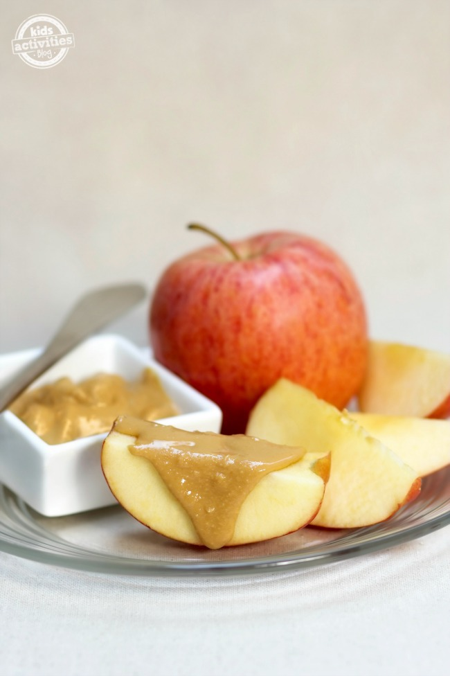 Apple Slices with Almond Butter