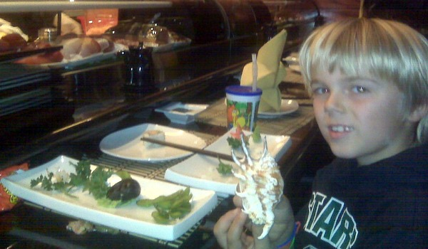 sushi and boy at fuji in highland village texas