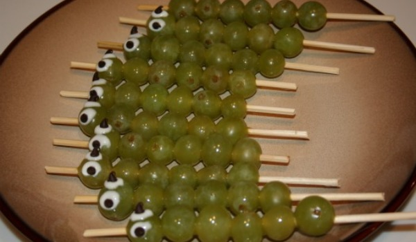 caterpillar grapes on a stick