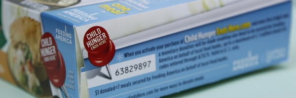 child hunger ends here code on ConAgra food item