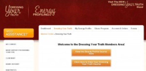 dressing your truth screen shot