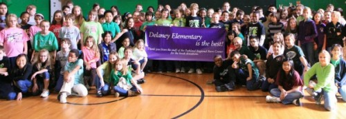 class photo of children at Delaney Elementary