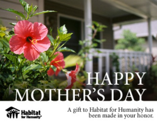 Mother's Day card with hibiscus
