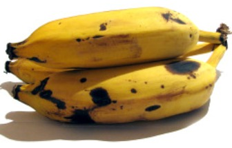 bananas with brown spots 336x215