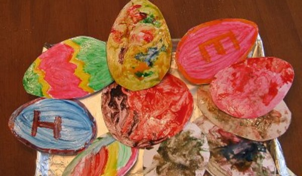 painted easter egg craft 600x350