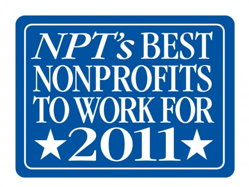 NPT's Best Nonprofits to work for 2011 badge