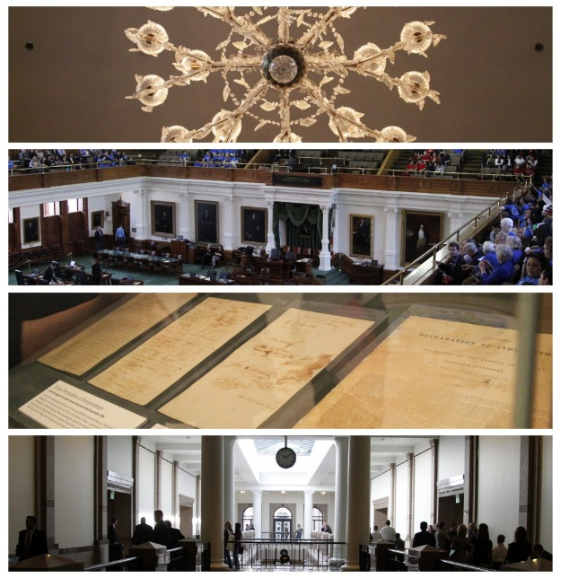 pictures taken at the Texas Capitol Building in Austin