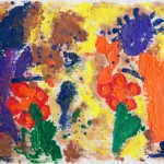 Kids Melted Crayon Painting