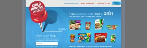 enter code on Child Hunger Ends Here website