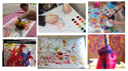 Ways to paint with kids