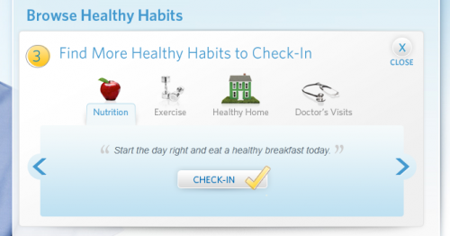 healthy habits at Check-in for Check Ups