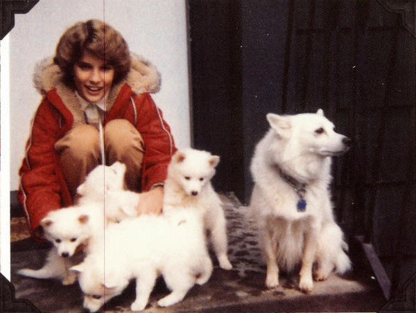 Holly and puppies