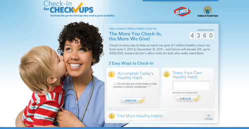Check-ins For Check Ups website