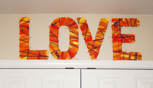 Oversized Textured Wall Letters