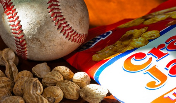 baseball, peanuts and crackerjacks